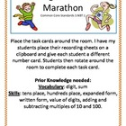 Rounding and place value Marathon 3.NBT.1