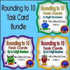 Rounding to 10 Task Card BUNDLE with and without QR Codes