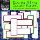 Roundy Skinny Rectangle Doodle Borders: For Personal & Com