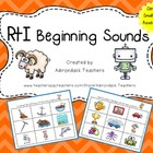 RtI: Phonemic Awareness Beginning Sounds