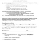 RtI specialist participation-parent permission form