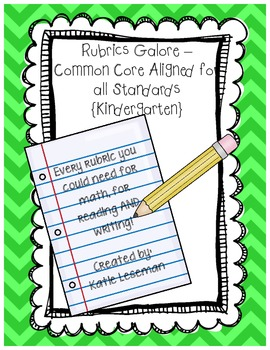 Rubrics Galore - Common Core Rubrics Kindergarten