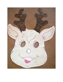 Rudolph the red nose reindeer Christmas face mask