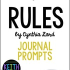Rules by Cynthia Lord:  22 Journal Prompts