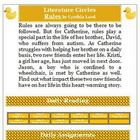 Rules by Cynthia Lord Literature Circles Reading Activity