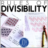 Rules of Divisibility - Differentiated Interactive Notes a