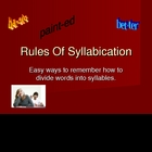Rules of Syllabication
