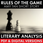 Rules of the Game, two-day plan, Amy Tan's short story fro