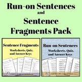 Run-on Sentences and Sentence Fragment Pack