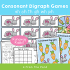 Runaway Rabbit! Consonant Digraphs Center/ Game