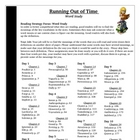 Running Out of Time Guided Reading Word Study Vocabulary