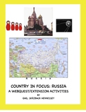 Russia: Country in Focus:Webquest/Extension Activities