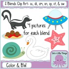 S Blends Clip Art Bundle- sc, sk, sm, sn, sp, st, & sw clipart