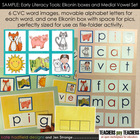 SAMPLE Early Literacy Tools: Elkonin boxes and Medial Vowe