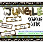 SCHEDULE CARDS for a JUNGLE ~ SAFARI CLASSROOM THEME