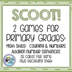 SCOOT!  First Grade Math - first month of school  2 sets