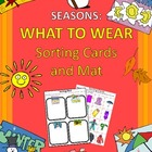SEASONS: What to Wear Sorting Cards and Mat