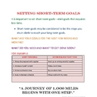 SETTING SHORT TERM GOALS-CLASSROOM FORM