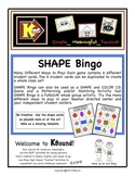 SHAPE Bingo and Matching Game!  A funsical way to review a