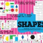 SHAPES - flashcards, wall display, big book, worksheets, w