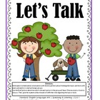 SL.K.1 Kindergarten Common Core Worksheets, Activity, and Poster