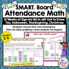 SMART Board Attendance & Math Set 1: 12 Weeks of Attendanc