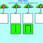 SMART Board Music: Rain Rain Song with rhythm practice