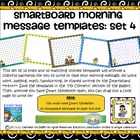 SMARTBoard Morning Message Templates Set 4