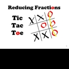 SMARTboard Tic Tac Toe  -  Reducing Fractions