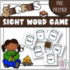 S'Mores Sight Word Game Pre-primer Dolch word list