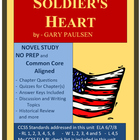 SOLDIER'S HEART Novel Study Unit, Common Core Aligned