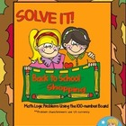 SOLVE IT! School Shopping Math Logic Problems Using 100-nu