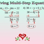 SOLVE MULTI STEP EQUATIONS WITH COMBINE LIKE TERMS a Ppt P