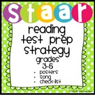 STAAR Reading Test Prep Posters + Song {Grades 3-5}