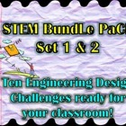 "STEM Bundle Pack Set 1 & 2 ""Ten Engineering Design Challenges!"""