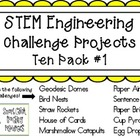 STEM Engineering Challenge Projects ~ TEN PACK #1