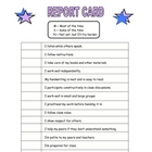 STUDENT REPORT CARD FOR ENCOURAGEMENT