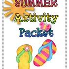 SUMMER Language Arts and Math Activity Packet