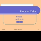 SYNTAX - Piece of Cake, pps, 25 pages, with interactive exercises