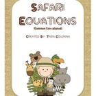 Safari Equations Addition & Subtraction