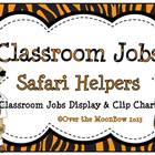 Safari Helpers Classroom Jobs Display & Clip Chart