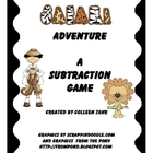Safari Subtraction Problem Solving Game with Word Problems
