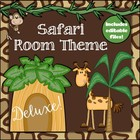 Safari Themed Deluxe Classroom Decor Set {plus editable files}