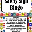 Cut & Paste - Safety Sign Bingo