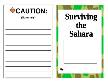 Sahara Desert Survival Guide - Cornell Notes