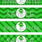 Saint Patrick's Day Ninja Water Bottle Labels
