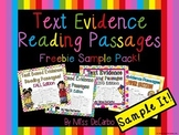 Sample It! Text Evidence Reading Passages FREEBIE Pack
