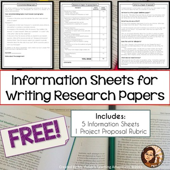 Sample Packet of MLA Research Handouts