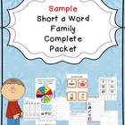 Sample Short a Word Family Centers Bundle: CVC Bingo, Spin
