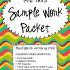 Sample Work Packet - Mrs. Fun's Picks!